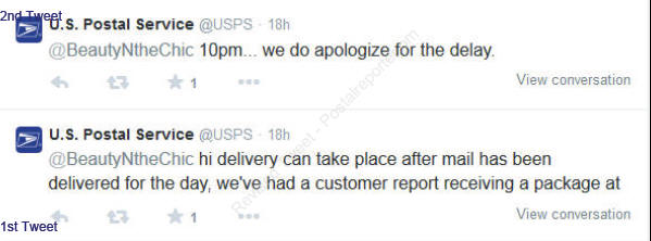 "USPS revises Tweet on ""Delivery can be as late as 10pm"