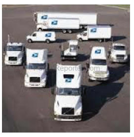 usps fleet of trucks