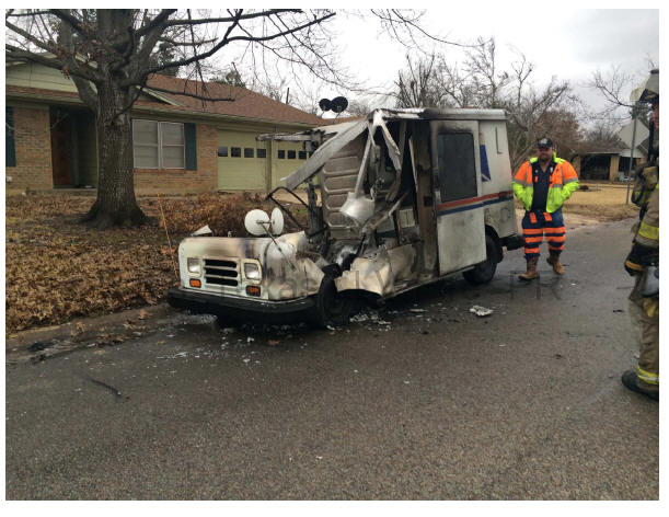Paris, TX Postal Truck Lost in Fire
