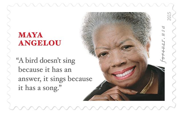 USPS: Maya Angelou Receives Stamping Ovation