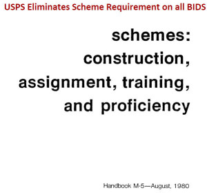 Update: USPS Elimination of Scheme requirements on Clerk bids is Modified (Slightly)