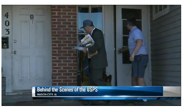 Video: Congressman Steve King delivers mail