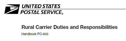 USPS revises Rural Carriers Handbook PO-603 to include