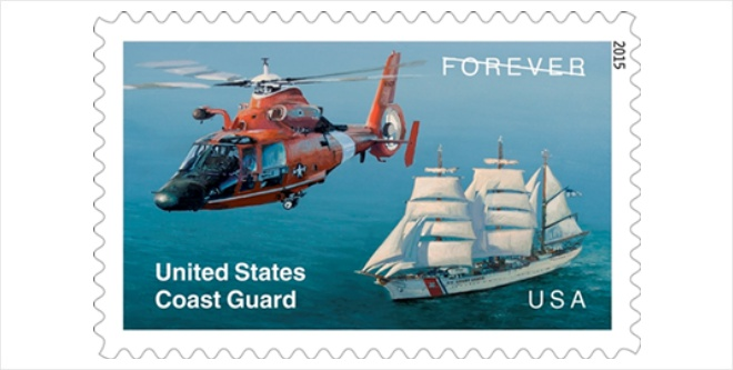 Usps Salutes United States Coast Guards 225th Anniversary With - United-states-forever-stamps