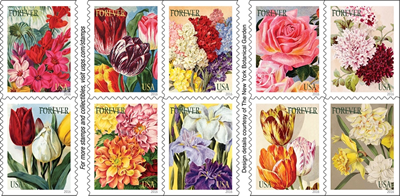 Beautiful Flowers Decorate Forever Stamps