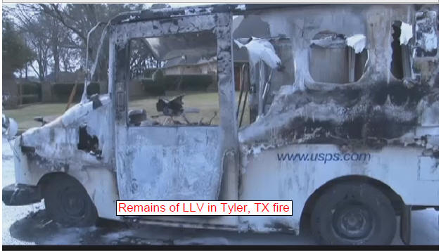 Trucks on fire: USPS Long Life Vehicles outlive their