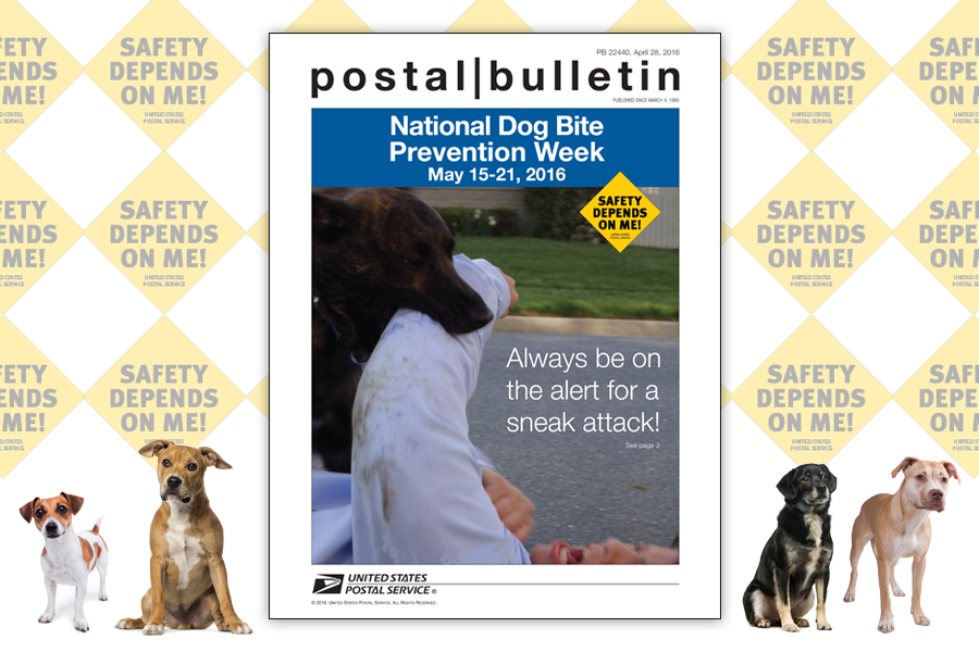 The Postal Bulletin's latest issue highlights National Dog Bite Prevention Week