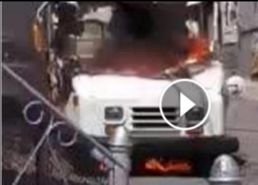 Video: Mail Truck on Fire in Massachusetts