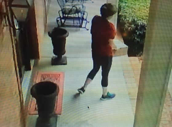 Woman arrested after video shows theft of packages