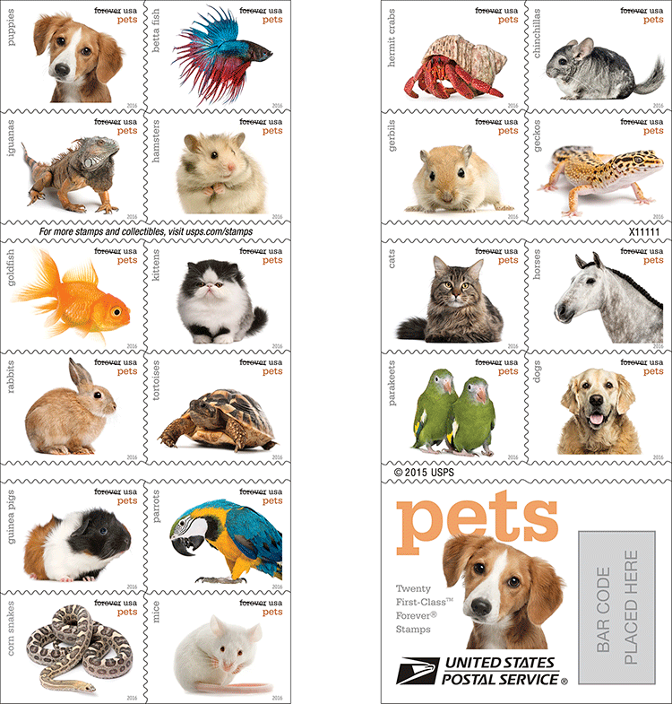 USPS to issue Pets forever stamps