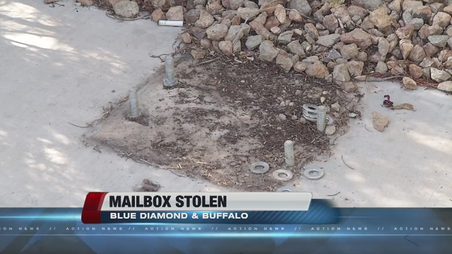 Video: Thieves unbolt and steal 16 unit community mailbox