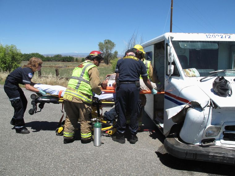 California Mail Carrier injured in head-on collision