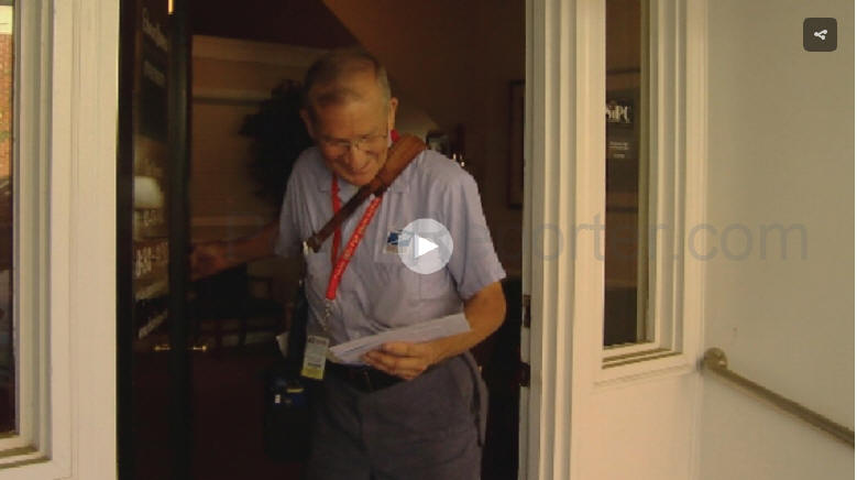 Video: Cleveland Tenn postal worker celebrates 50 years on the job