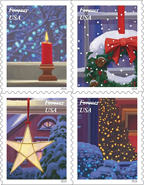 USPS: Holiday Window Views Featured on Forever Stamps