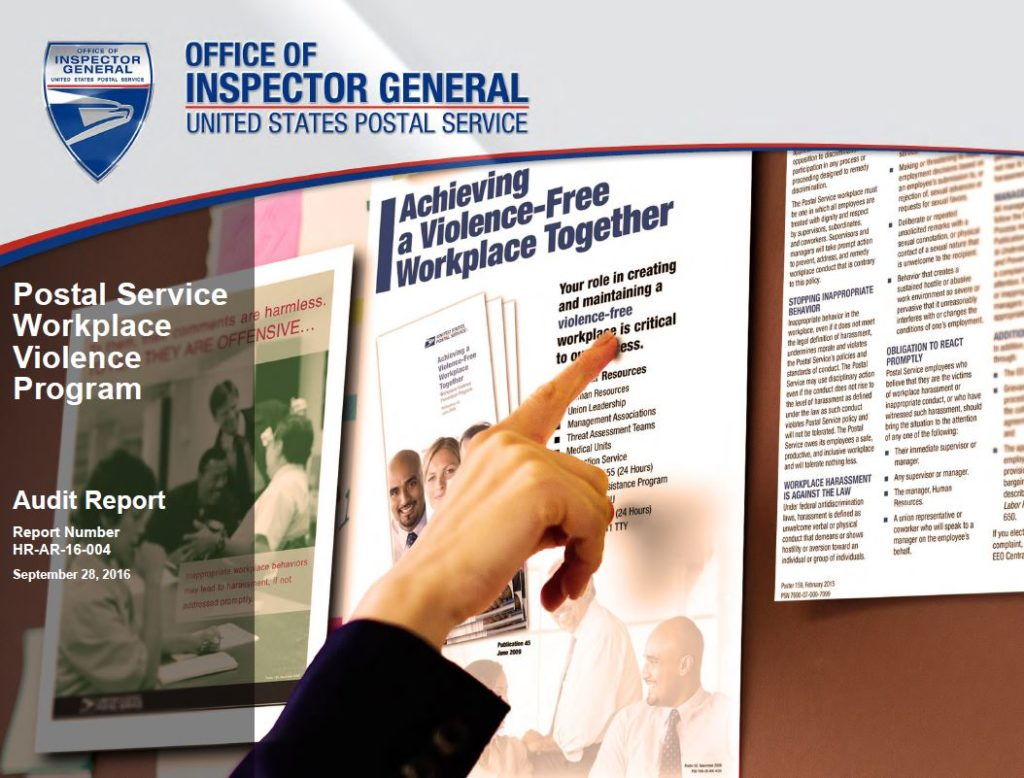 workplace violence and harassment risk assessment template - usps oig postal service workplace violence program