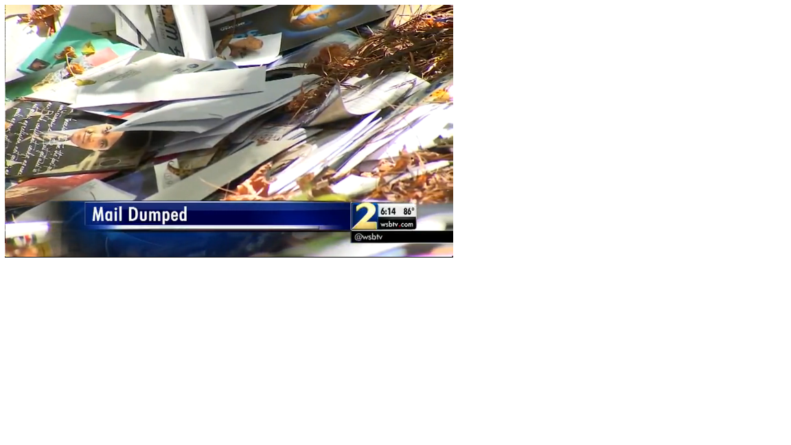 video usps investigating over 12 tubs of mail dumped in woods. Black Bedroom Furniture Sets. Home Design Ideas