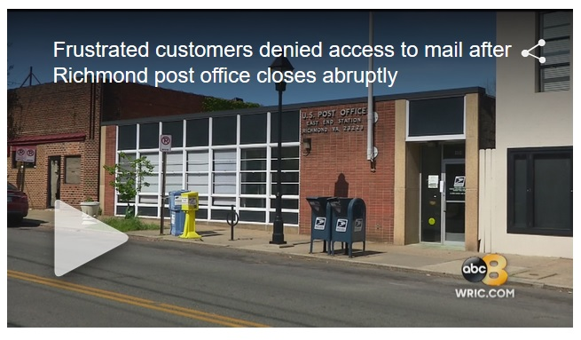 Frustrated Customers Denied Access To Mail After Richmond