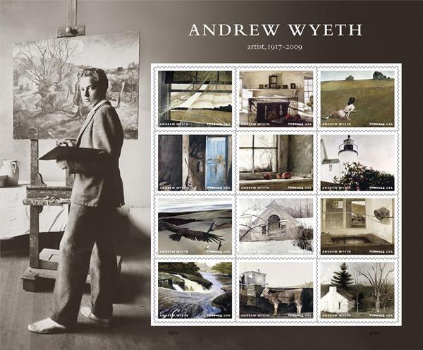 Wyeth Stamp Sheet