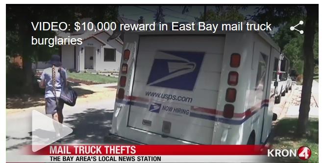 VIDEO: $10,000 reward in Northern California mail truck