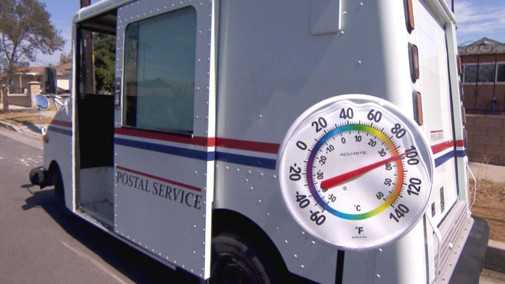 Here's How Hot It Is Inside a Mail Truck   PostalReporter com