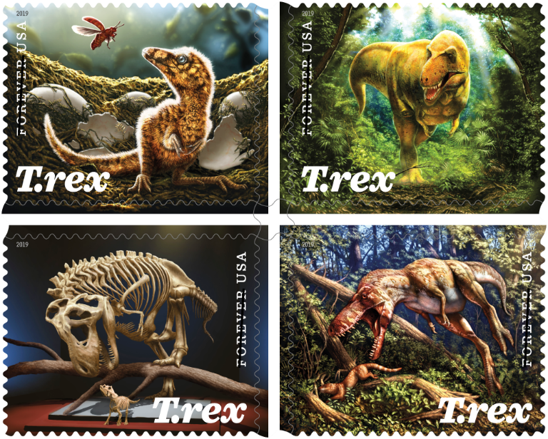 USPS: Fearsome Dinosaur Immortalized on Forever Stamps